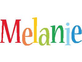 Melanie birthday logo