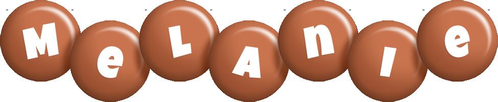 Melanie candy-brown logo