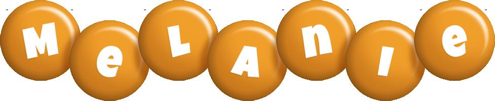 Melanie candy-orange logo