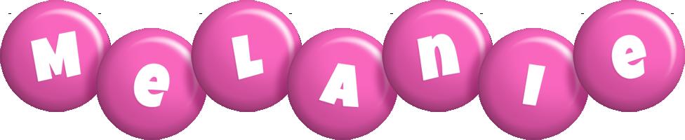 Melanie candy-pink logo