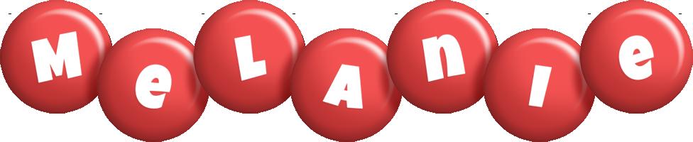 Melanie candy-red logo