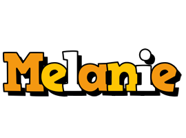 Melanie cartoon logo