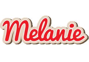 Melanie chocolate logo