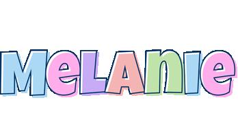 Melanie pastel logo
