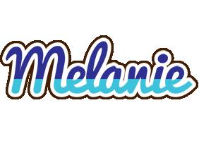 Melanie raining logo