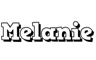 Melanie snowing logo
