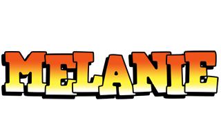 Melanie sunset logo