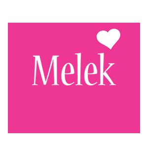 Melek love-heart logo