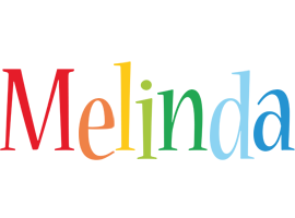 Melinda birthday logo