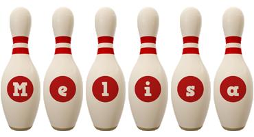 Melisa bowling-pin logo