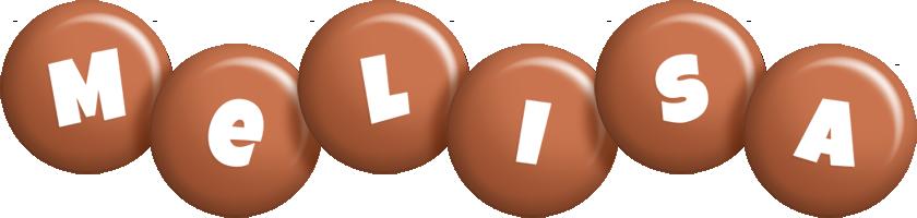 Melisa candy-brown logo