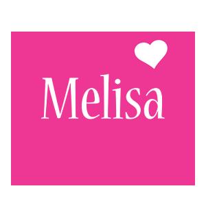 Melisa love-heart logo