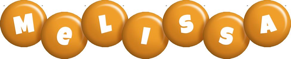 Melissa candy-orange logo