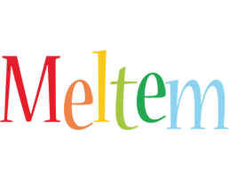 Meltem birthday logo