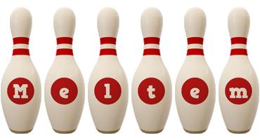 Meltem bowling-pin logo