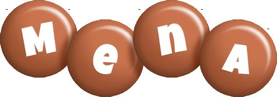 Mena candy-brown logo