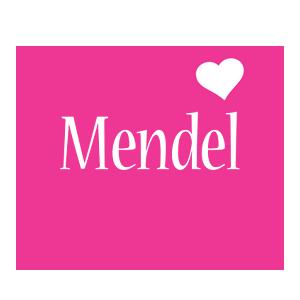 Mendel love-heart logo