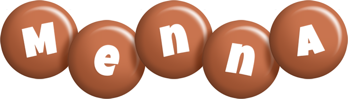 Menna candy-brown logo