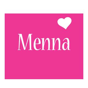 Menna love-heart logo