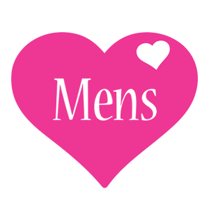 Mens love-heart logo
