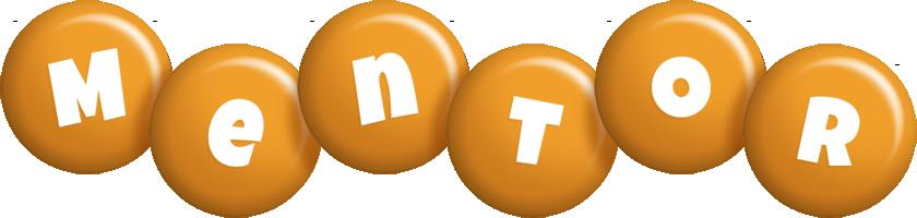 Mentor candy-orange logo
