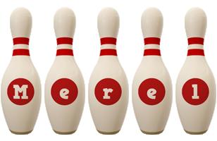 Merel bowling-pin logo