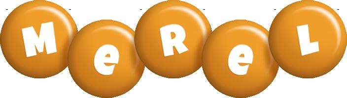 Merel candy-orange logo