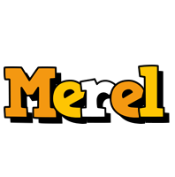Merel cartoon logo