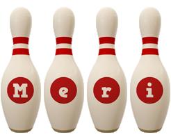 Meri bowling-pin logo