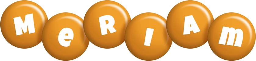 Meriam candy-orange logo