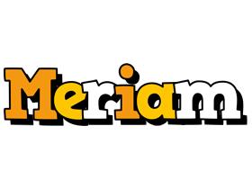 Meriam cartoon logo