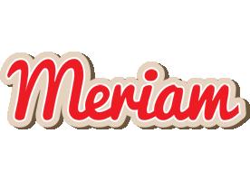 Meriam chocolate logo