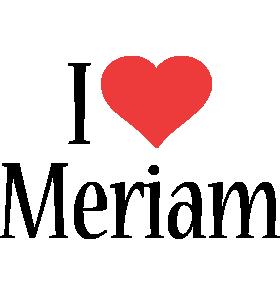 Meriam i-love logo
