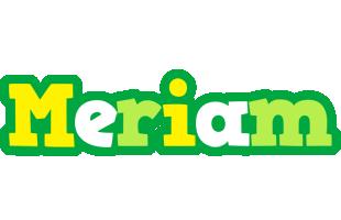 Meriam soccer logo