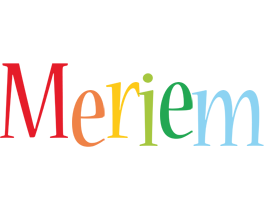 Meriem birthday logo