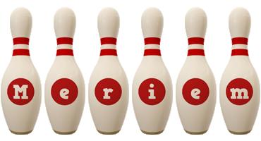 Meriem bowling-pin logo