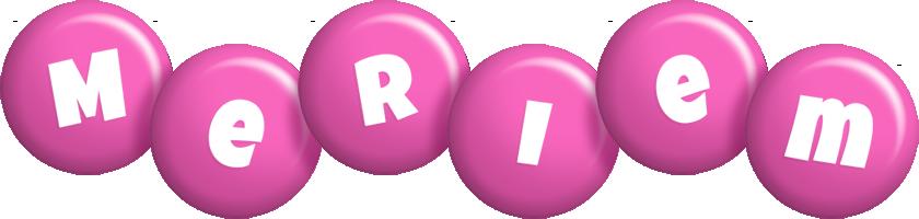 Meriem candy-pink logo