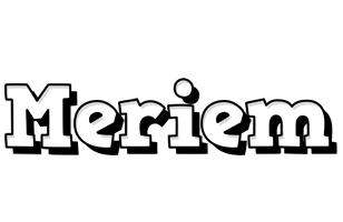 Meriem snowing logo