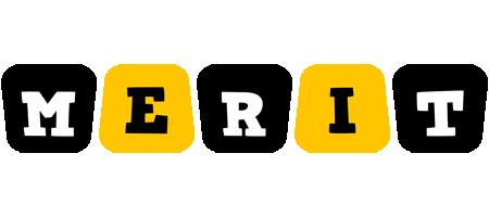 Merit boots logo