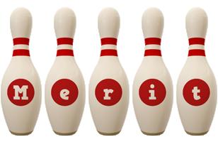 Merit bowling-pin logo
