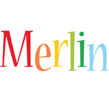Merlin birthday logo