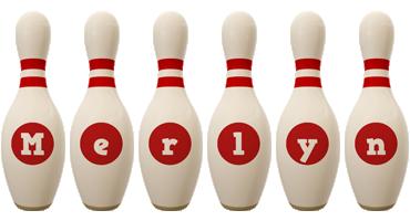 Merlyn bowling-pin logo