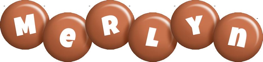 Merlyn candy-brown logo
