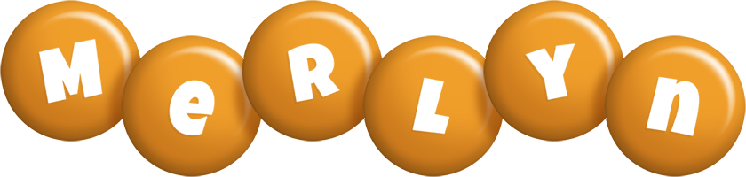 Merlyn candy-orange logo