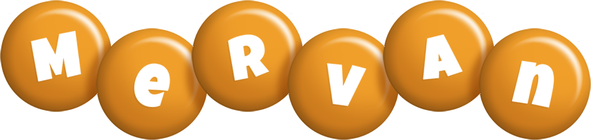Mervan candy-orange logo