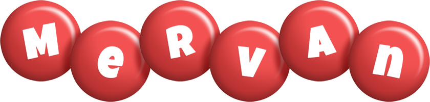 Mervan candy-red logo
