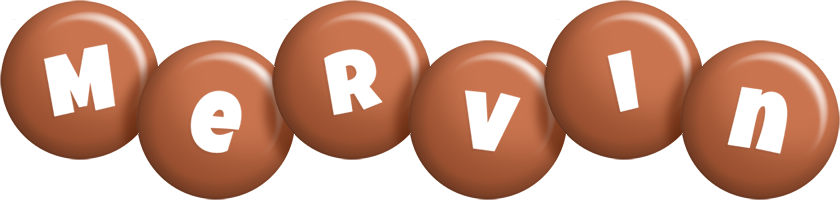 Mervin candy-brown logo