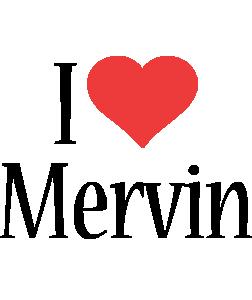 Mervin i-love logo