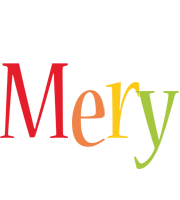 Mery birthday logo