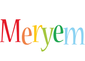 Meryem birthday logo